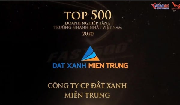 Đất Xanh Miền Trung lọt top 500 doanh nghiệp tăng trưởng nhanh nhất, top 10 công ty uy tín nhất ngành Bất động sản – Xây dựng – Vật liệu Xây dựng 2020
